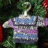 Mini Sweater Ornament free crochet pattern