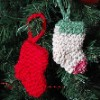 Mini Stocking Ornament free crochet pattern